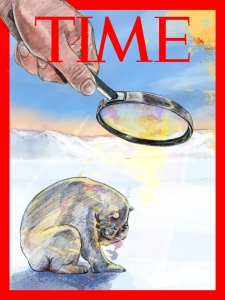 Project to create a Global Warming mockup cover spot for Time Magazine