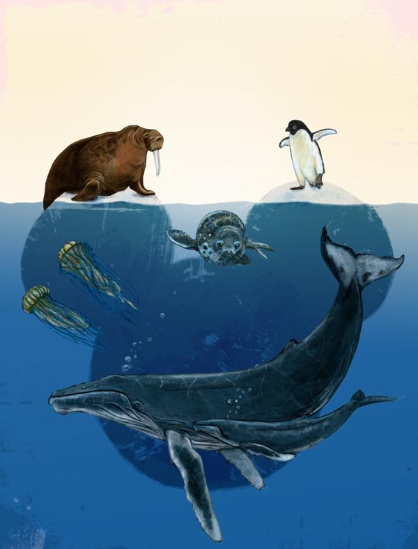 A poster mock-up for Disney Oceans